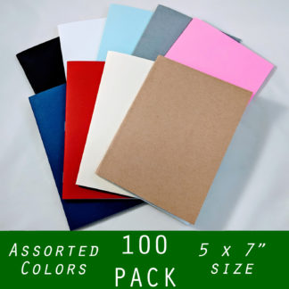 5x7 notebooks assorted colors