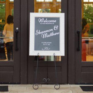 Custom Wedding Welcome Sign Decal