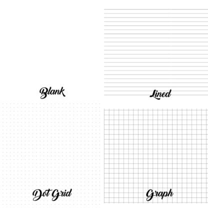 Blank Lined Dot Grid and Graph paper