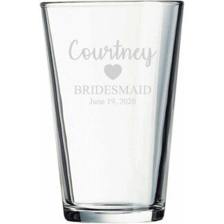Bridesmaid Pint Glass