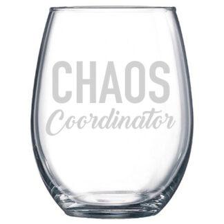 Chaos Coordinator Stemless Wine Glass