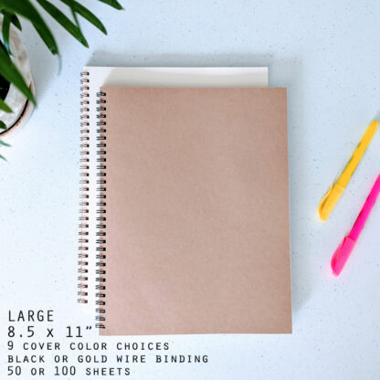 Large wire bound notebook