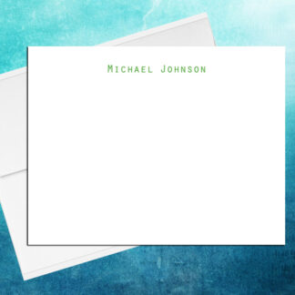 Personalized Professional Note Cards Simple 1