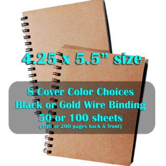 small wire notebook 4.25 x 5.5 inches