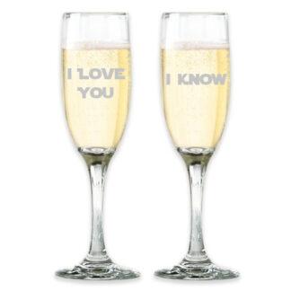 Star Wars Champagne Glasses