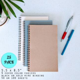 bulk wire bound notebook 25 pack