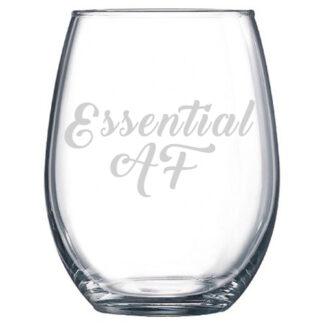 Essential AF stemless wine glass