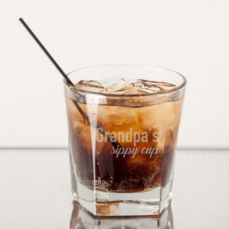 Grandpa's Sippy Cup Rocks Whiskey Glass