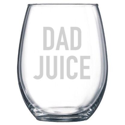Dad Juice Stemless Wine glass