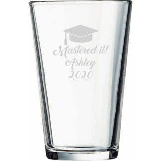 Personalized Mastered It Beer Pint Glass