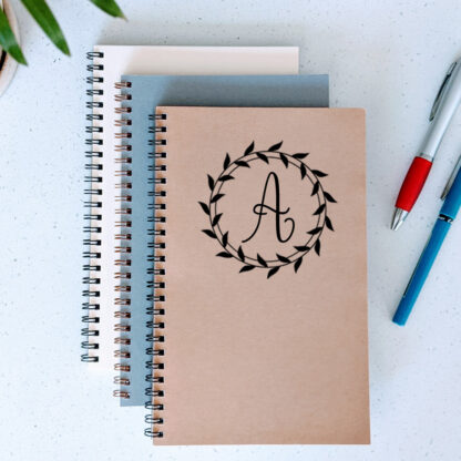 monogram notebook with initial