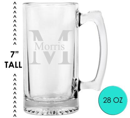 monogram beer mug