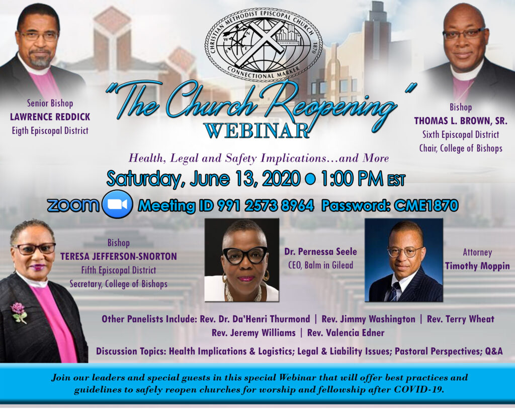 The Church Reopening Webinar:  Health, Legal and Safety Implications…And More