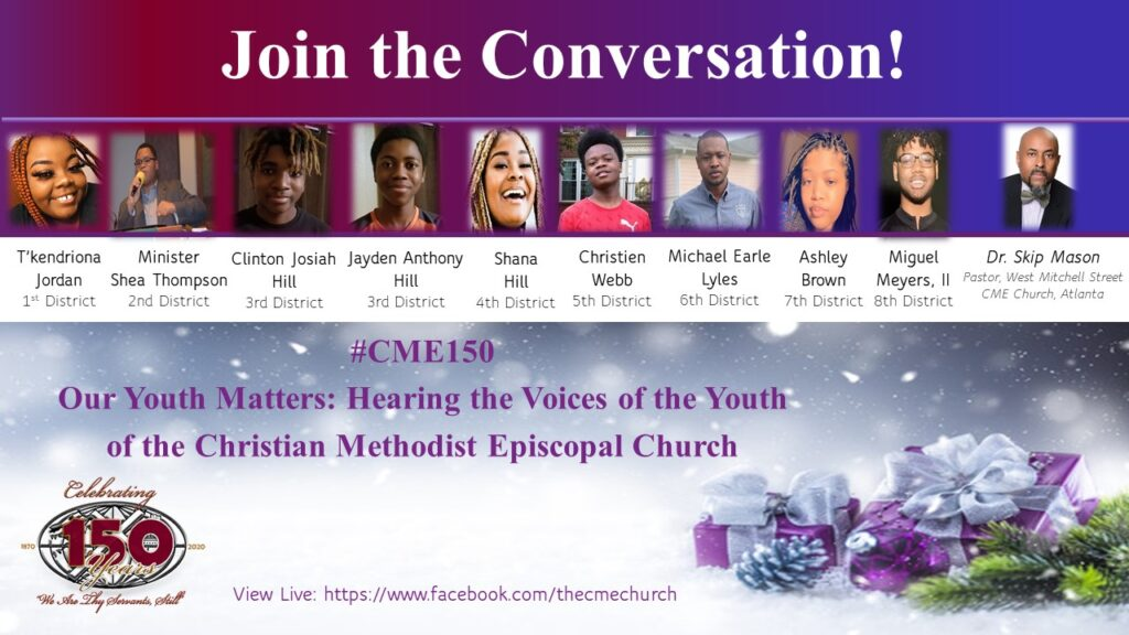 CME150 Facebook Live Conversation with the Youth of Our Church