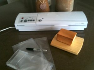 Vacuum Sealer, Sealer Bags and the ever present permanent marker | urbnspice.com