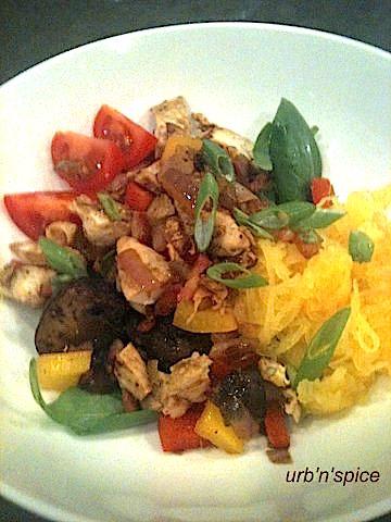 Gluten Free, Grain Free chicken & vegetable dinner | urbnspice.com