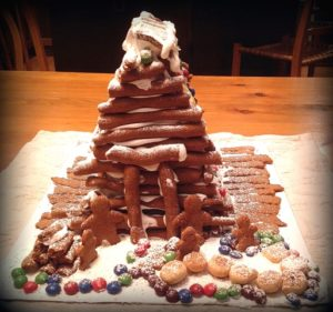 A simple Gingerbread House made by grandchildren   urbnspice.com