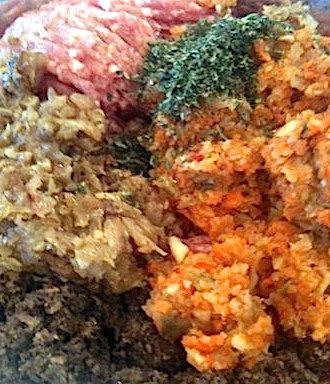 Stuffed Cabbage mixture | urbnspice.com