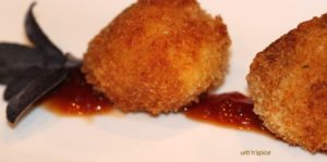 Arancini served with Smoked Tomato Confiture   urbnspice.com