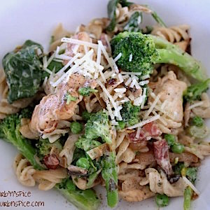 Herb and Garlic Chicken, Broccoli & Pancetta Pasta Dish | urbnspice.com
