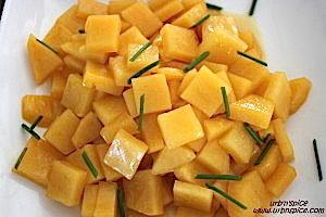 Honey Glazed Rutabaga - a Braised Vegetable | urbnspice.com