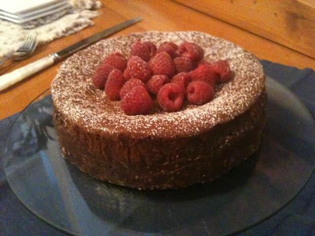 Double Chocolate Raspberry Cheesecake   urbnspice.com