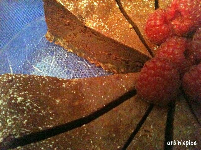 Cutting the Cake: Double Chocolate Raspberry Cheesecake | urbnspice.com