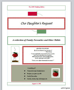 """The Watson Family Recipe Archive, """"Our Daughter's Request"""""""