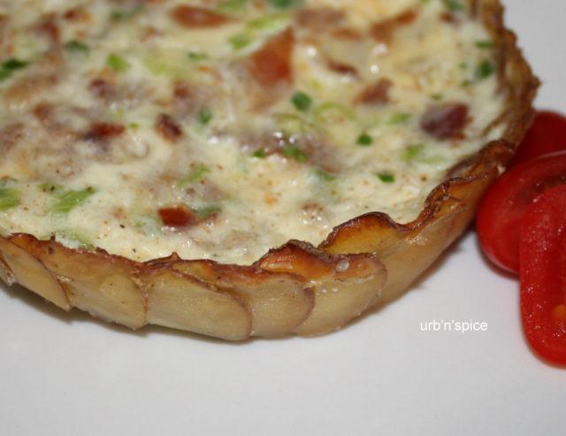 Potato Crusted Quiche: Potato shell for quiche - Crust | urbnspice.com