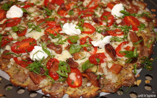 Ready to Eat Smashed Potato Pizza   urbnspice.com