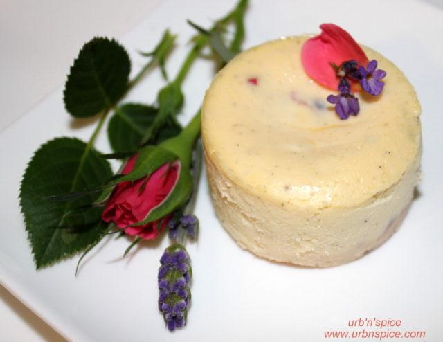 Lavender-Rose Cheesecake | urbnspice.com