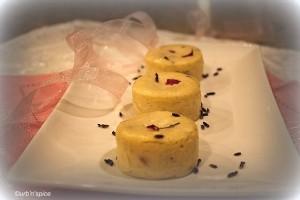 Lavender Rose Mini Cheesecakes