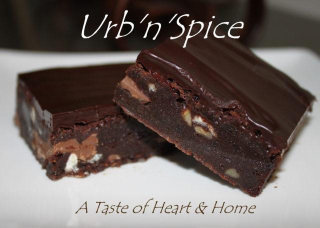 UrbnSpice's Ultimate Quadruple Brownie   urbnspice.com