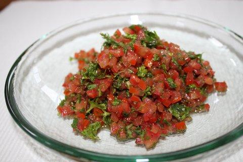Fresh Tomato Herb Salsa   urbnspice.com