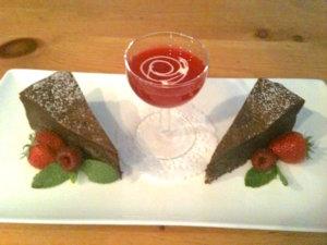 Double Chocolate Raspberry Cheesecake with Chocolate Pecan Crust   urbnspice.com