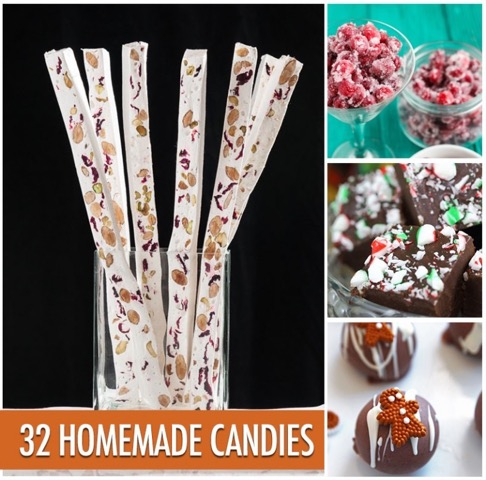 32 Homemade Candies by Food Bloggers of Canada