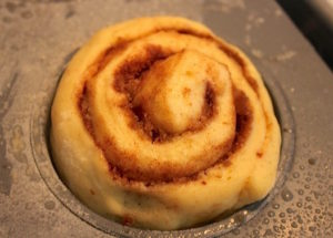 Cinnamon Rolls baked in muffin tins   urbnspice.com