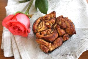 Heart Shaped Cinnamon Buns   urbnspice.com