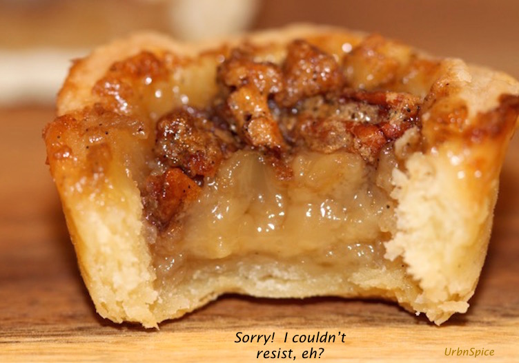 An Irresistible Bite: Maple Butter Tart with Pecans | urbnspice.com