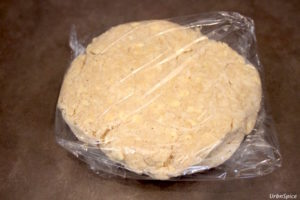 Wrap the dough in plastic wrap and chill for at least 30 minutes   urbnspice.com