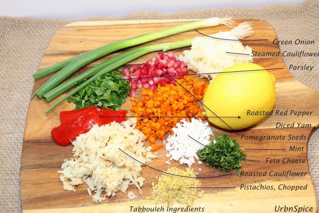 Cauliflower Tabbouleh Ingredients | urbnspice.com