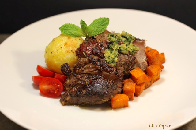 Gremolata with Roasted Leg of Lamb: Plated | urbnspice.com