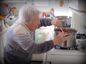 Our Mom prepping the filling for her famous tourtiere | urbnspice.com