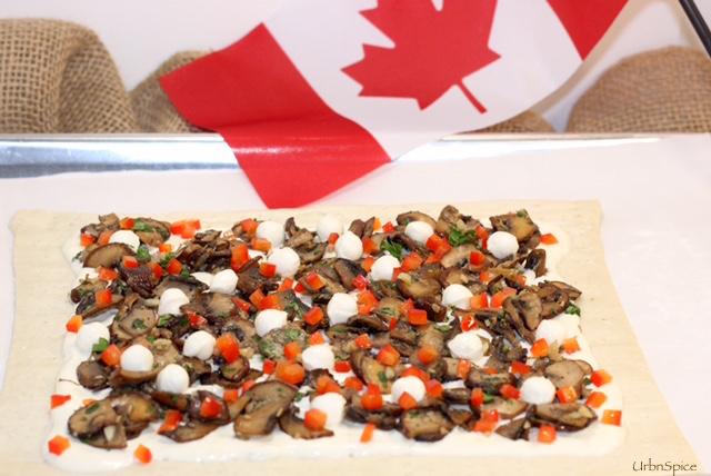 Caramelized Mushroom Tart ready to bake | urbnspice.com