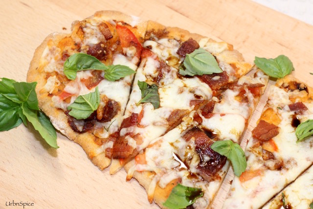 Gluten Free Flatbread using Power Sauce and a few select topping ingredients | urbnspice.com