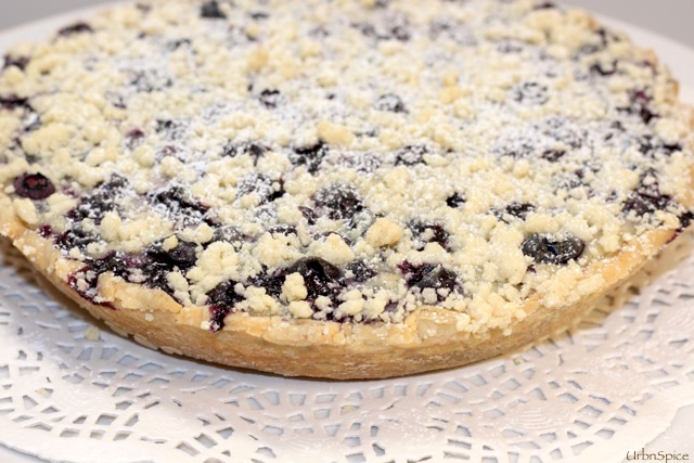 Blueberry Sour Cream and Greek Yogurt Tarte   urbnspice.com
