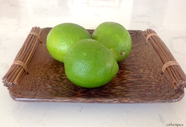 Gorgeous Limes ready to make Zesty Lime Ice Cream | urbnspice.com
