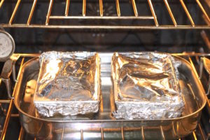 Pork and Ham Loaf baking   urbnspice.com