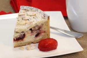 Plated Raspberry Cream Cheese Coffeecake   urbnspice.com