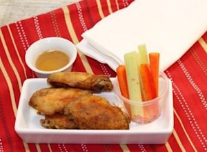 Snack time: chicken wings and crudites   urbnspice.com
